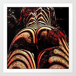 2574s-RES Abstract Nude Ass Butt Bum Tush Painting Art Print