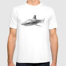 Shark I Mens Fitted Tee MEDIUM White