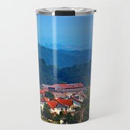 Village skyline on a summer afternoon Travel Mug