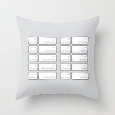 Ten Commands Throw Pillow