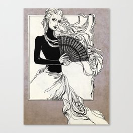 Vintage lady#3 Canvas Print