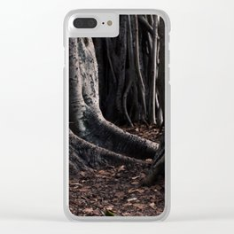 Spooky Winter Trees Clear iPhone Case