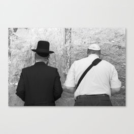 Western Wall Prayers Canvas Print