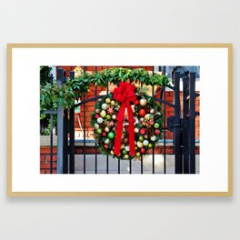 Wreath On The Gate Framed Art Print