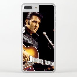 Elvis 1968 Comeback Special Advertising Print Clear iPhone Case
