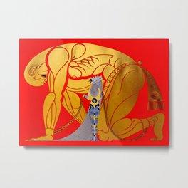 "Art Deco Design ""Sampson & Delilah"" by Erté Metal Print"