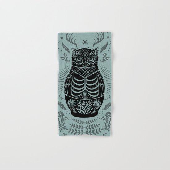 Owl Nesting Doll (Matryoshka) Hand & Bath Towel