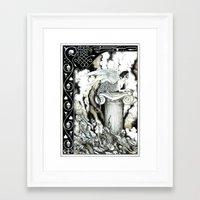 sphynx Framed Art Prints featuring Sphynx by Elias Aquino