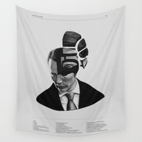 hannibal Wall Tapestries featuring Hannibal Lecter Phrenology by days & hours