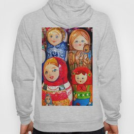 Culture. Group of matrioska, or babushka, symbol of maternity from Russia. Hoody