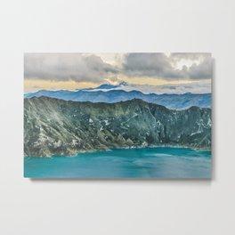 Quilotoa Lake, Latacunga Ecuador Metal Print