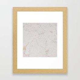 Vintage ivory brown elegant marble pattern Framed Art Print
