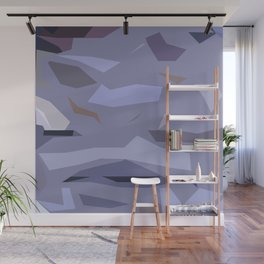 Fragmented Violet Wall Mural