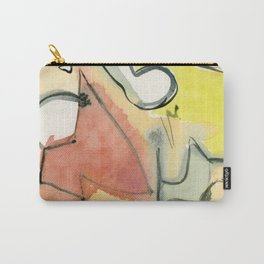 Golden Abstract with black lines Carry-All Pouch