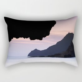 Half Moon beach. Vela tower cliff. Rectangular Pillow