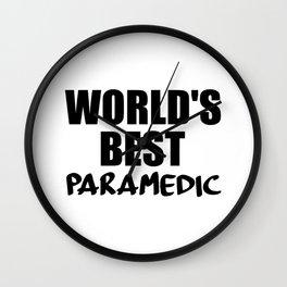 worlds best paramedic Wall Clock