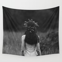 alone Wall Tapestries featuring Alone by Robinzon Kukuruza