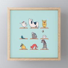Vegan Yoga Framed Mini Art Print