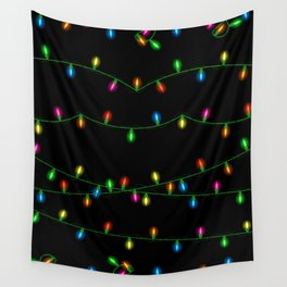 Christmas lights collection Wall Tapestry