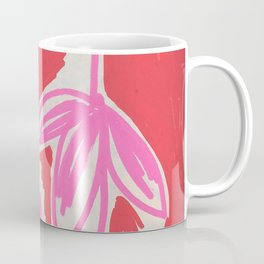 Red and Pink Sketchbook Botanical Coffee Mug
