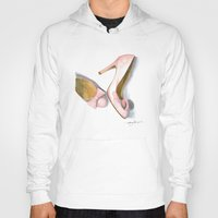 bows Hoodies featuring Pink Bows by Anthony Billings