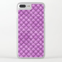 Quilted Purple Velvety Pattern Clear iPhone Case