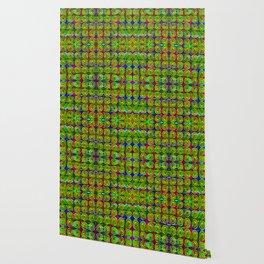 Gold-buttons-pattern Wallpaper