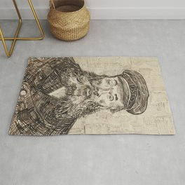 Van Gogh Postman Drawing Rug