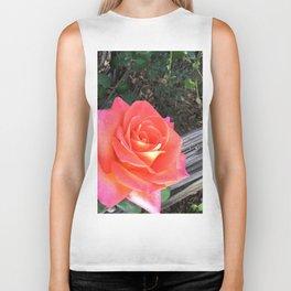 Rose On a fence Biker Tank