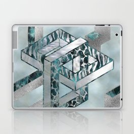 Abstract 3D Geometric Labradorite on Mother of pearl Laptop & iPad Skin
