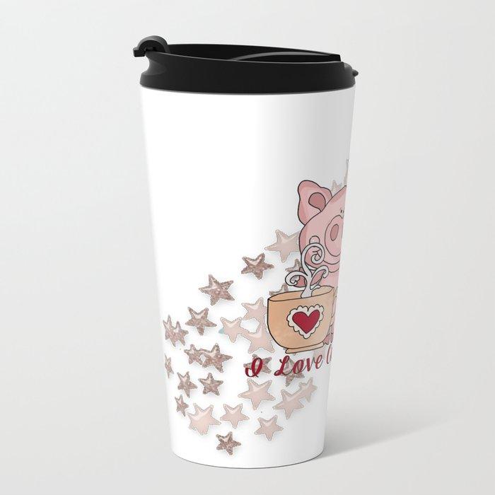 Piglet Loves Coffee Travel Mug