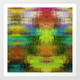 Colorful Abstract Funky Pattern Art Print