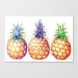 Three Pineapples Canvas Print