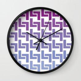 Monochromatic Purple L7 Wall Clock