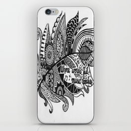 Zentangle Feather iPhone Skin
