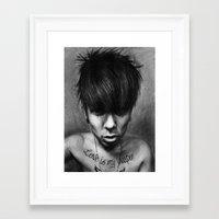 rock n roll Framed Art Prints featuring Rock N Roll by ''Befne''