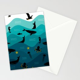 Underwater Ocean Animals Stationery Cards