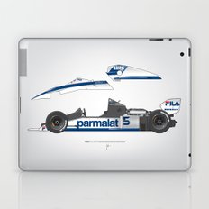 Outline Series N.º6, Nelson Piquet, Brabham BT-52 BMW, 1983 Laptop & iPad Skin