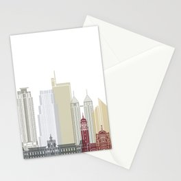 Manila skyline poster Stationery Cards