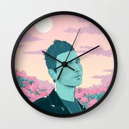 Hamingja - dusk Wall Clock