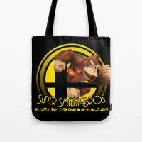 donkey kong Tote Bags featuring Donkey Kong - Super Smash Bros. by Donkey Inferno