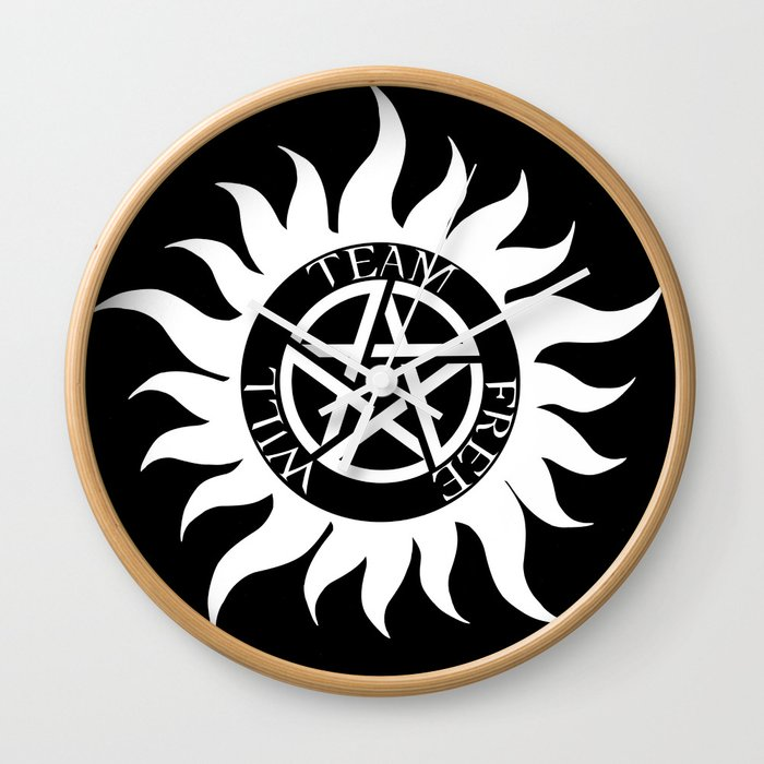 Team Free Will Anti Possession Symbol Supernatural White Wall