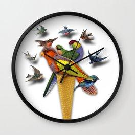 BIRDS ICE CREAM Wall Clock