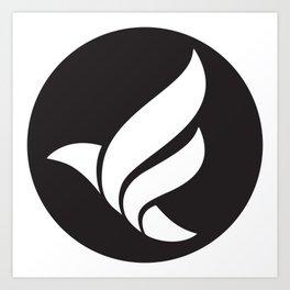 LFN b&w logo Art Print