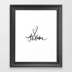 Je T'aime | Je T'aime Framed Art Print