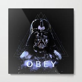 Obey the Dark Lord Metal Print
