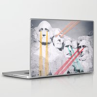 rushmore Laptop & iPad Skins featuring Embroidered Mt. Rushmore by Mana Morimoto