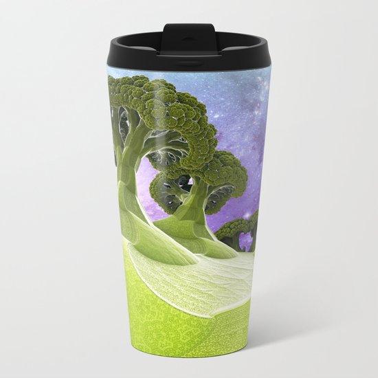 Broccoli Planet / / #fractal #fractals #3d Metal Travel Mug