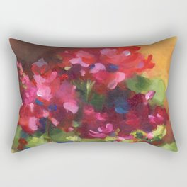 Geranium Reds Rectangular Pillow
