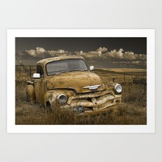 Abandoned Vintage Chevy Pickup Truck Art Print